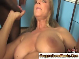Milf gets spit roasted