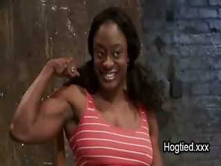 Busty black fitness enthusiast lady gets dominated