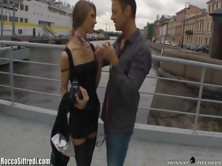 Rocco Siffredi Anally Defiles a Russian Ballerina on a Leash
