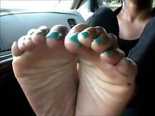 Sexy Blue Toes