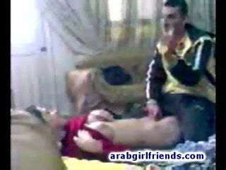 Turned on Arabian couple go naughty fucking in hot homemade