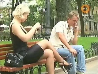 Naked and Funny - Blonde Girl with big Tits