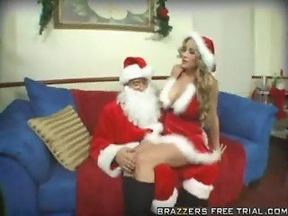 Sexy MILF Abby Waiting for Santa Claus