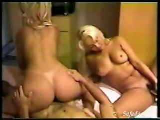 Two Young Blondes Fucking a Brazilian Guy
