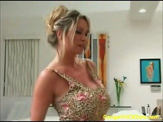 Pizza guy gets lucky with a horny cougar