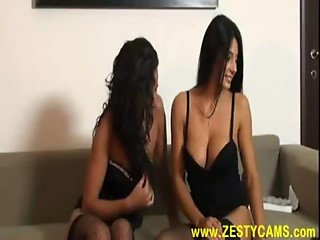 Two Hot Italian Lesbians Making Each Other Squirt