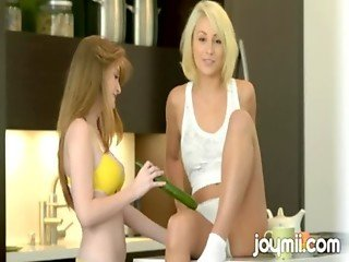 Faye Reagan Fucks Lexi Swallow With Cucumber