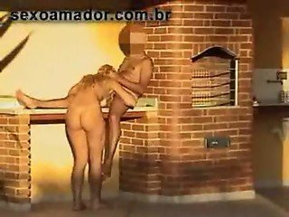 SpyCam - Blonde fucking hidden on barbecue