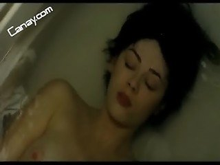 Demet Evgar topless in tub -Turkish Celebrity
