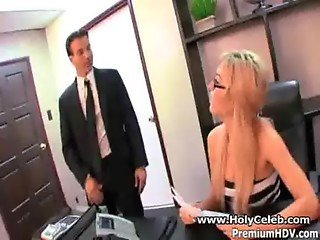 Horny Secretary fuck by boss