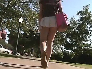 ultra short skirt voyeur