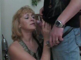 Mature the rich granny with handsome young man lover sex