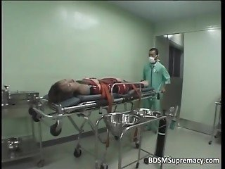 BDSM body exam by kinky doctor who play