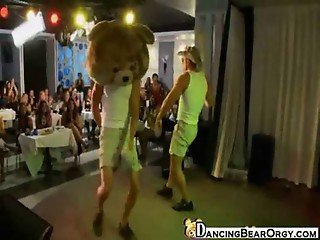 Dancing Bear Strippers Perform for Horny Women