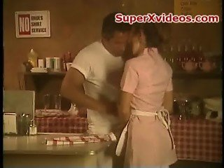 Sexy waitress having good sex with her boss