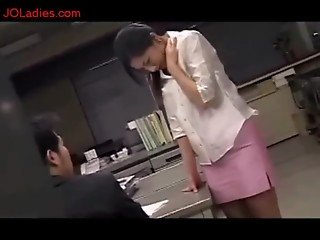Office Lady Getting Her Tits Rubbed Nipples Sucked In The Office