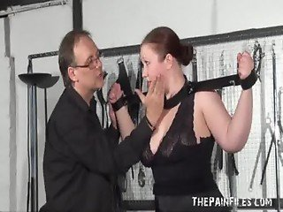 Chubby Blindfolded Amateur Slave RosieB Whipped