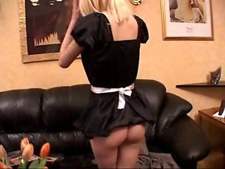 Swedish girl Emma as Waitress rare clip