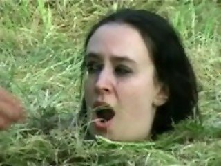 Forest bdsm burial and bizarre domination of crying slavegirl