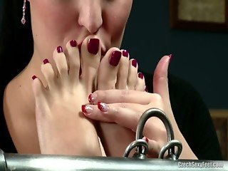 Jana Cova and Carmen Lesbian Foot Fetish
