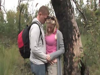 Aussie couple get hot in the bush