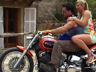 Slutty Girlfriend Fucked By Biker After A Ride