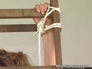 Busty mother gets bondage by her