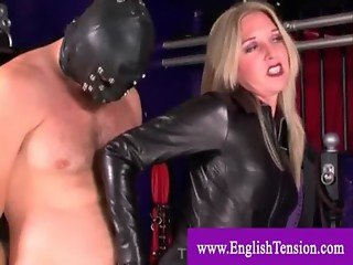 Dominatrix and her useless slave
