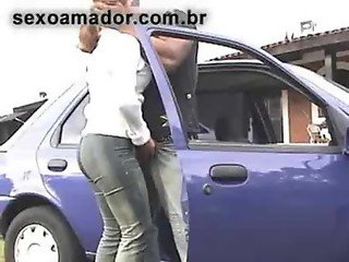 SpyCam - Blowjob in public on car