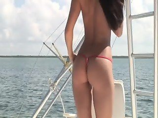Erica bikini model boat ride
