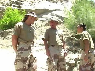 Loni Threesome with Military