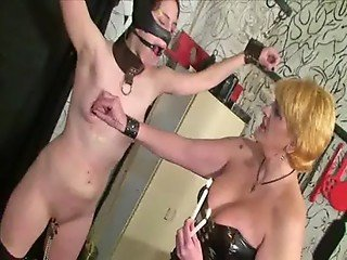Extreme Lesbian Nipple Pain of spanish slavegirl Alba