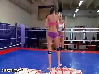 Nude Fight Club presents Becky Stevens vs Barbie Bla from http://oqps.net