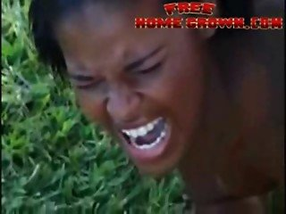 African Amateur Black Girl Gets Anal Destroyed By Big Cock