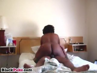 Black wife with big butt rides on hubbys cock