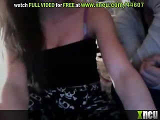 Amateur Brunette Teens Show Their Round Natural Knockers On Webcam