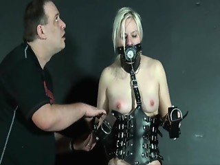 Bizarre Leather Punishment Of Teen Blonde Chaos In Masked Depravation