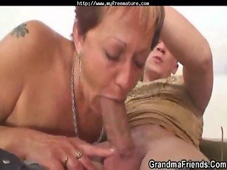 Lonely Grandma Gets Pounded By Two Horny Guys mature mature porn granny old cumshots cumshot