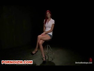 Chained in Metal Punishment Devices Lesdom Slave