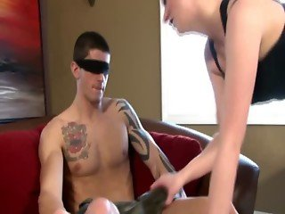 Babe tricks dude into MMF bisexual trio