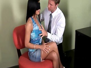 Medical practitioner giving a check up