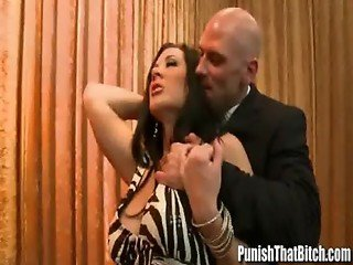 Bitch Jayden Jaymes gets Punished Backstage - PunishThatBitch.com