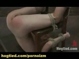 Hogtied Bondage Training of Female Slaves and Sadism-5