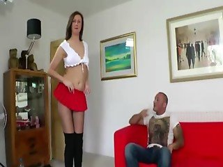 Pussy in boots fucked