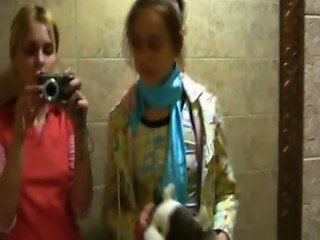 naked russian princess on disco toilet