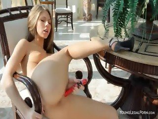 Sweet beauty Anjelica toying pussy