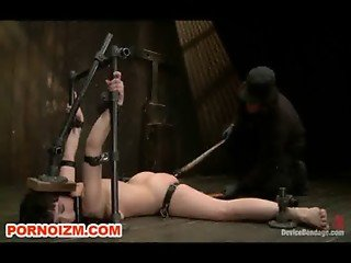 Chained Slave Bondage Device Torments and Wax