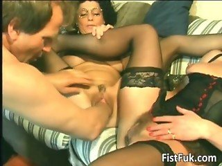 Horny old sluts fingering and fisting