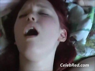 Chubby Redhead Girlfriend Sucks And Fucks