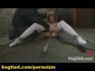 Hogtied Bondage Training of Female Slaves and Sadism-3